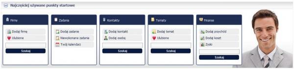 Punkty startowe CRM online inFirma