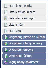 Nowe menu Dokumenty - inFirma 1.15