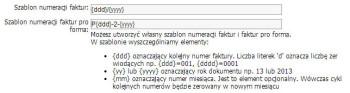 Szablon numeracji - CRM online 1.16