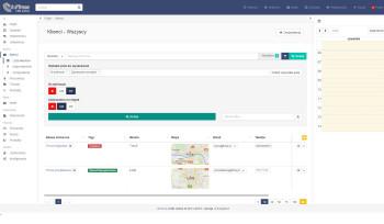 inFirma 2.0 - lista klientów z mapą