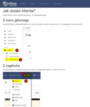Pomoc systemu CRM inFirma.pl