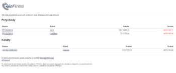 Email z terminami płatności - wersja 2.2.0