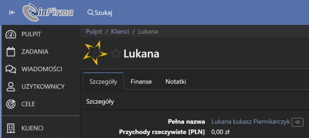 Logo firmy Lukana wyświetlone za pośrednictwem Gravatar